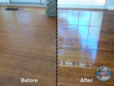 Dustless hardwood floor refinishing company in new jersey for Wood floor restoration essex